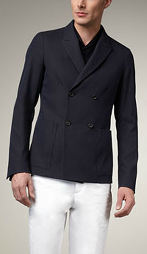 JIL SANDER DOUBLE BREASTED BLAZER SOFT TAILORING