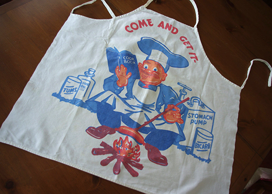 Etsy Men's Vintage Apron Barbeque BBQ style workshop