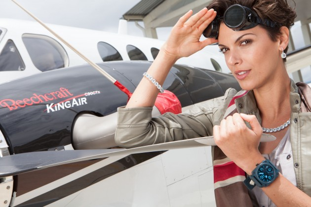 Meanwhile, Models are Flying Through the Sky in Colombia, Courtesy of Bell & Ross