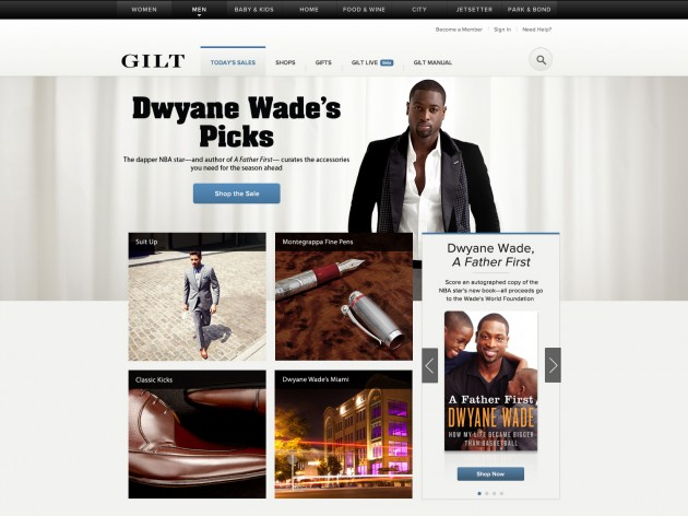 Dwayne Wade Curated GiltMAN sale Currently Live