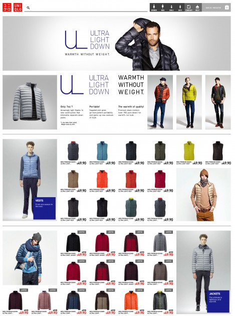 uniqulo e-commerce