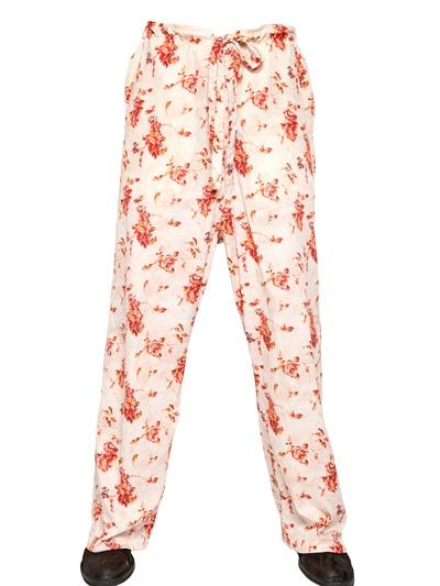 Ann Demeulemeester trousers Ann Demeulemeester Floral Damask Print Shirt men's manly guys designer spring 2013 trend