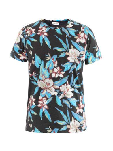 Balenciaga T-shirt floral flowers digital runway Ann Demeulemeester trousers Ann Demeulemeester Floral Damask Print Shirt men's manly guys designer spring 2013 trend