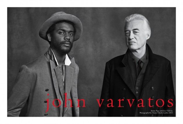 John Varvatos Spring 2013 campaign advertisement ad jimmy page Gary Clark jr Danny Clinch London Rivoli Ballroom