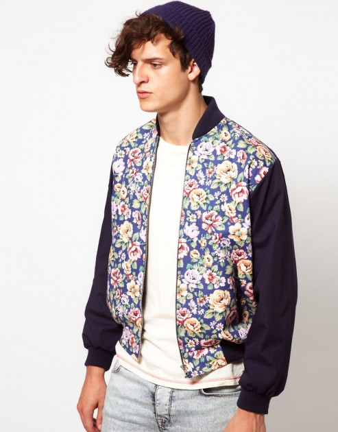 Reclaimed Vintage varsity jacket floral flower men mans spring 2013 trend trendy hip balenciaga phillip lim ann demeulemeester top man adidas y-3 opening ceremony sneakers pants tops shirts