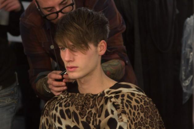 John Varvatos Fall 2013 menswear london new york pitti uomo hair backstage runway