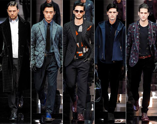 Giorgio Armani Fall 2013 Menswear runway milan fashion week pitti uomo male models