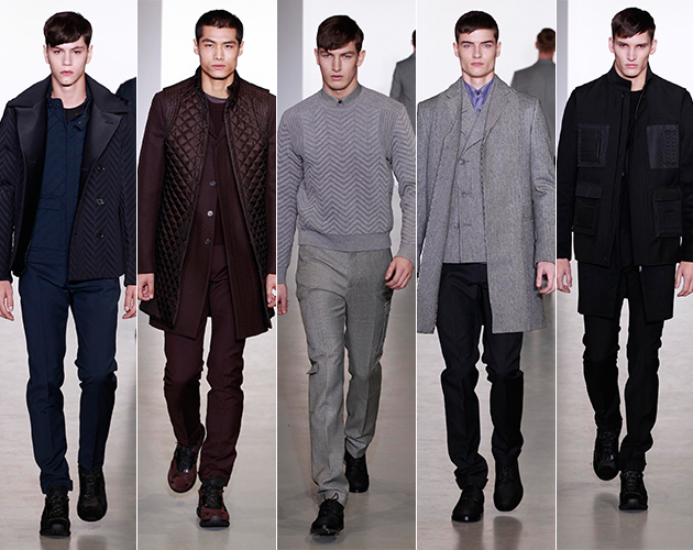 calvin klein collection runway milan fashion show mens style mens fashion technical herringbone pitti uomo