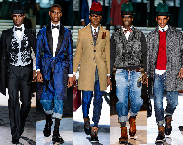 Dsquared2 Fall 2013 Menswear Runway Male Models Milan pitti uomo black models african models chic amazing so cool