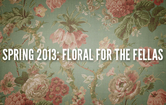floral prints for men guys boys flowers spring 2013 trend trends runway purchase stores phillip Lim Ann Demeulemeester Balenciaga Gucci Carven Bottega Veneta Paul Smith Top Man Comme Des Garcons Shirt Adidas Opening Ceremony Y-3 Christopher Kane Etro