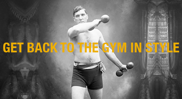 Boxer Jess Willard Exercising with Dumbbells back to the gym essentials clothes sweat pants track pants cotton wicks moisture polyester synthetic headphones technology gadgets designer style stylish men man mens healthy y-3 aether sony givenchy hard graft rlx ralph lauren hammerthor thorlo Nike Fuelband