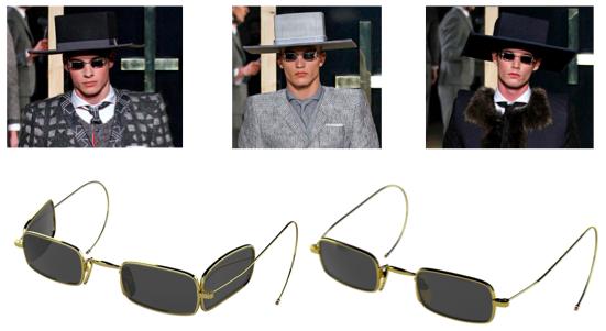thom browne fall 2013 eyewear paris runway sale release date may TB900 gold black iron