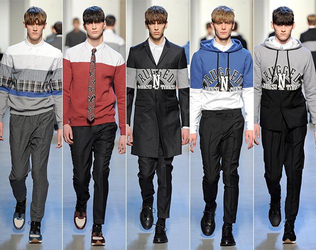 Kris Van Asshe Fall 2013 paris fashion week male models choose life menswear