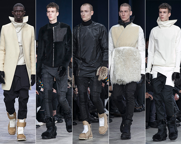 Rick Owens Fall 2013 Menswear paris fashion week models