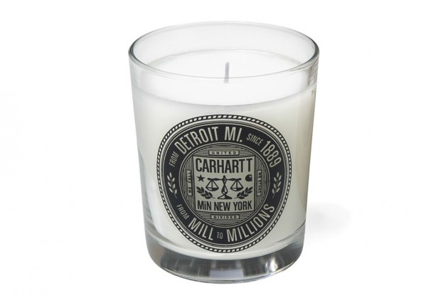 Carhartt WIP MiN New York limited edition candle collaboration made in the usa apothecary workwear bergamot wormwood pine cedar timber armoise